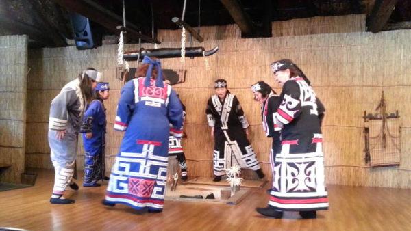 Ainu village Shiraoi Hokkaido